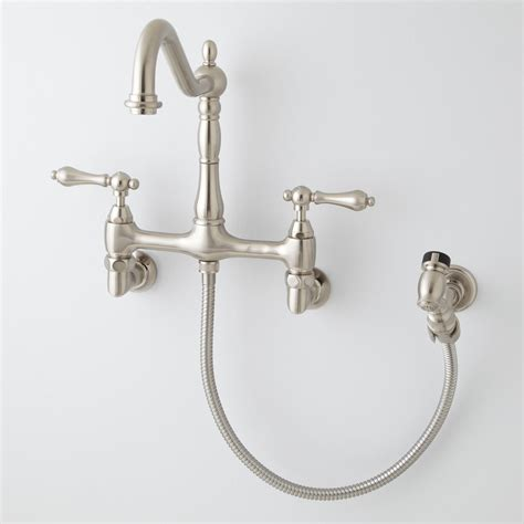 kitchen faucets wall mount felicity wall mount kitchen faucet with side spray