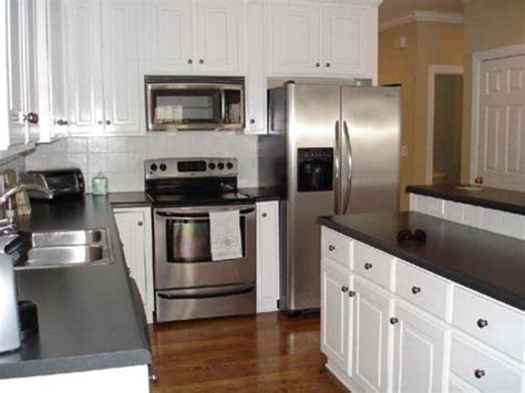 white kitchen cabinets with stainless steel appliances black and white kitchen with stainless steel appliances