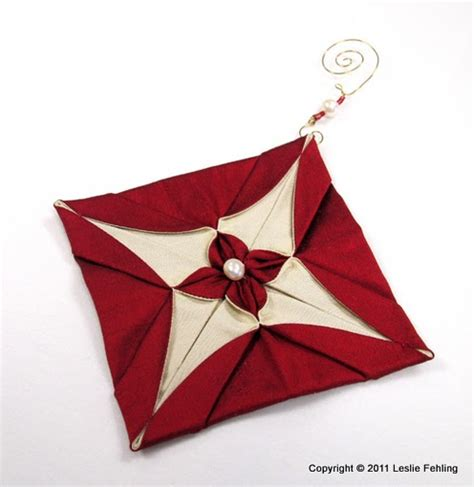 fabric origami ornaments everyday artist silk origami ornaments