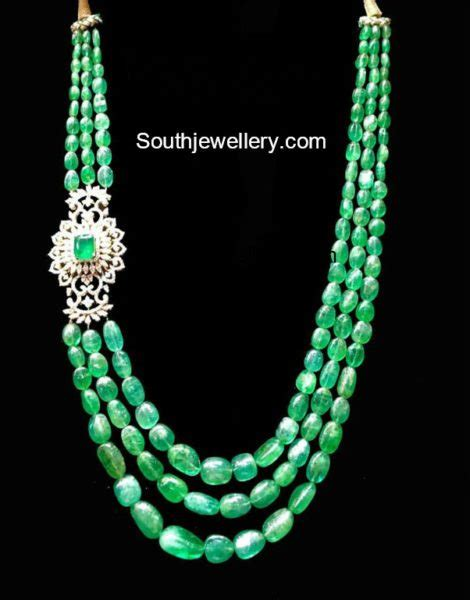 emerald mala emerald necklace jewelry designs jewellery designs