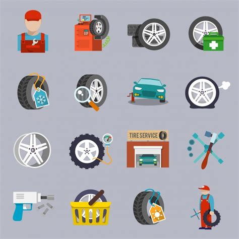 Car Desktop Icons by Car Repair Icons Collection Vector Premium