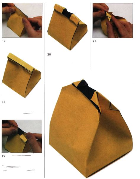 origami bags with paper bag of gifts from the paper