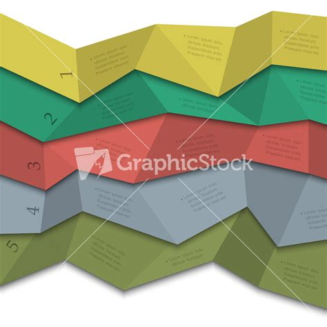 origami style origami style creative design template for infographics
