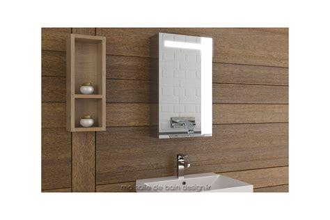 armoire salle de bain lumineuse simple porte 40 cm de large tout miroir