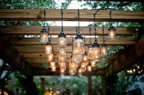 jar patio lights a patio strung with jar lights wedding day pins
