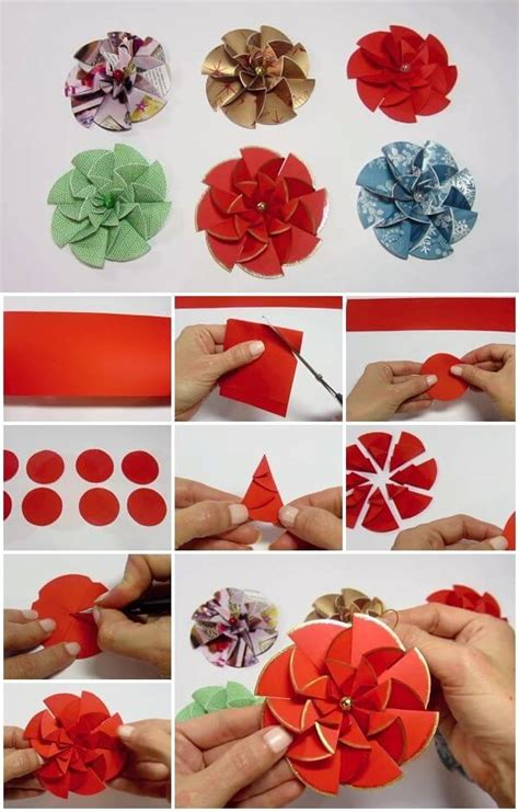 how to make craft paper flowers diy paper flower step by step tutorials k4 craft