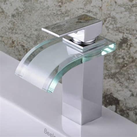 single handle chrome waterfall bathroom sink faucet f