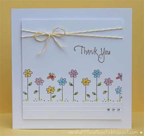 thank you card ideas for to make s snippets simple thank you card