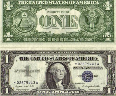 dollar bill found a silver certificate dollar