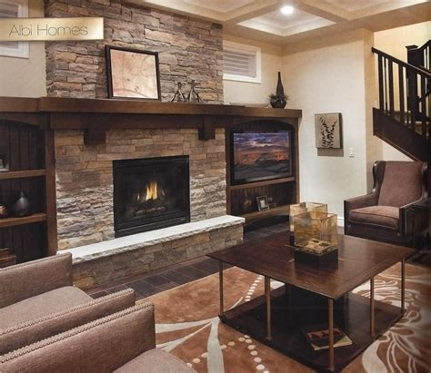 Fireplace With Wood Mantel