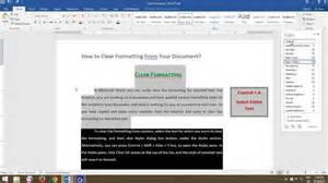 on microsoft word how to clear formatting from entire text in documents