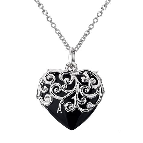 black pendants diamonds roses pendant with black onyx
