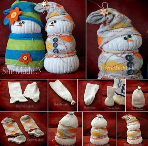 sock crafts for ideas products diy sock snowmen