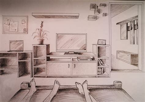 how to draw a bedroom how to draw one point perspective bedroom with furniture