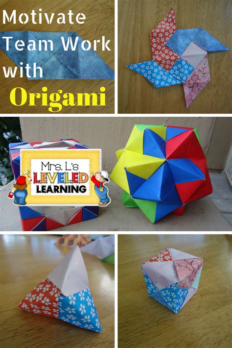 origami math project mrs l s leveled learning s day hop 2015