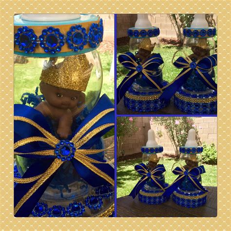 prince baby shower centerpieces one royal blue prince baby shower centerpiece prince