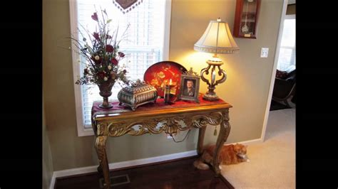 decorating table for foyer table decorating ideas
