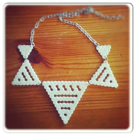 perler bead jewelry patterns white perler bead necklace hama