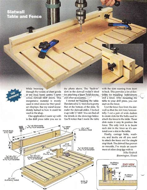 drill press table woodworking plans drill press table and fence plans woodarchivist