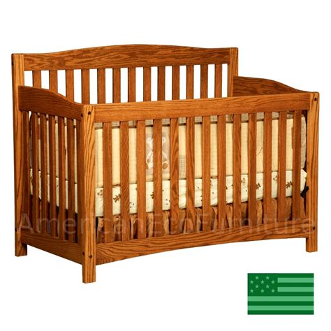 oak baby crib amish monterey 4 in 1 convertible baby crib solid wood