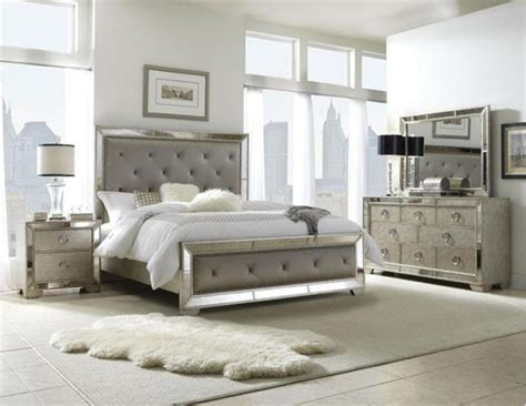 silver bedroom furniture sets pulaski furniture farrah silver 5 king bedroom set