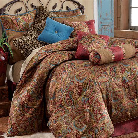 paisley king comforter sets san angelo paisley comforter bedding
