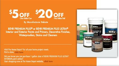 home depot messed up paint home depot behr paint rebate 5 1 gallon or 20