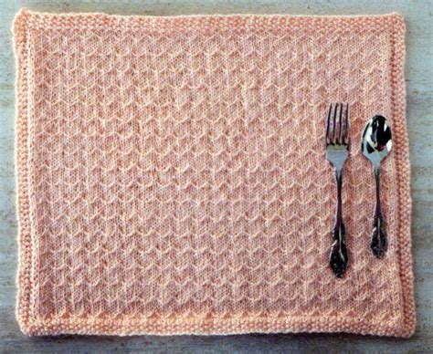 knitted placemats knitted placemats for your kitchen table craftsy