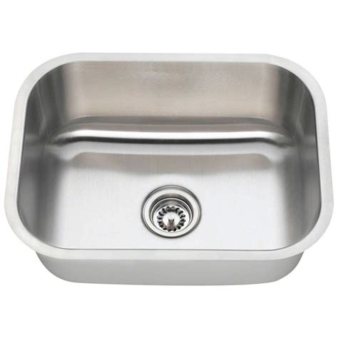 single basin stainless steel undermount kitchen sink polaris sinks undermount stainless steel 23 in single