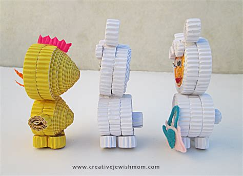 corrugated paper craft corrugated paper animal craft for creative