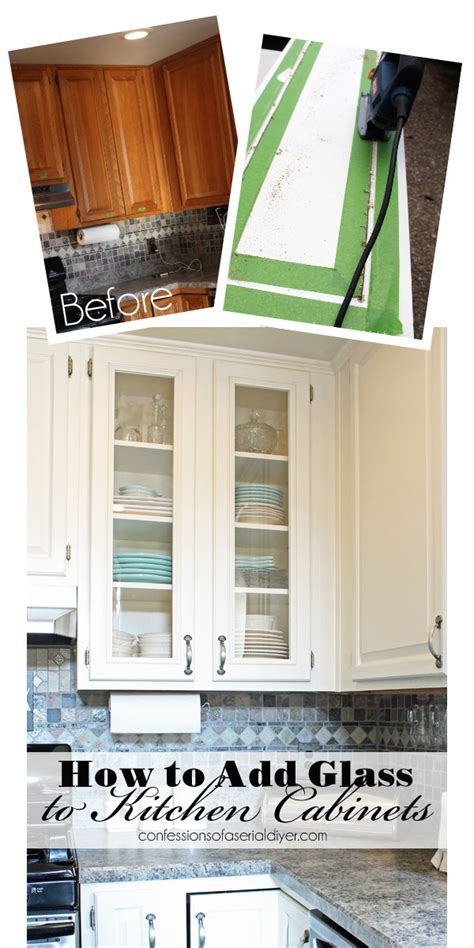 add glass to kitchen cabinet doors how to add glass to cabinet doors confessions of a