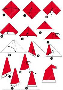 santa origami how to make an origami santa cap step by step