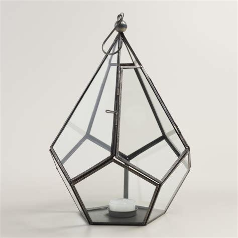 metal lantern antique zinc metal teardrop lantern world market