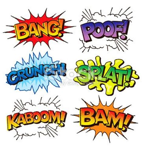 comic book picture effect comic book sound effects illustration illustration