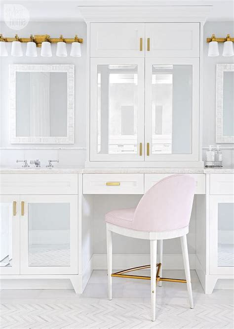 mirrored bathroom vanity cabinets mirrored makeup vanity cabinets with blush pink stool