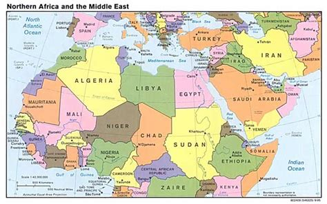 the east map of the middle east