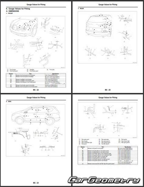 automotive service manuals 2006 subaru b9 tribeca windshield wipe control кузовные размеры subaru tribeca b9 2006 2007 body repair manual
