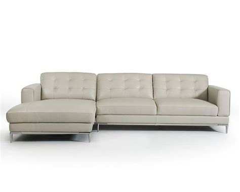 contemporary leather sectional sofa light grey leather sectional sofa in contemporary style