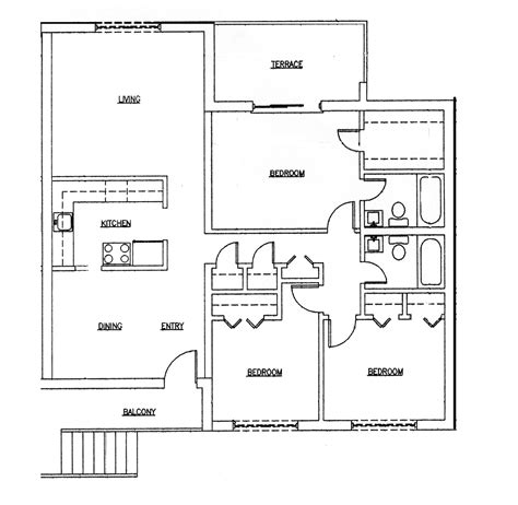 modern 3 bedroom house design three bedroom house plans 653624 affordable 3 bedroom 2