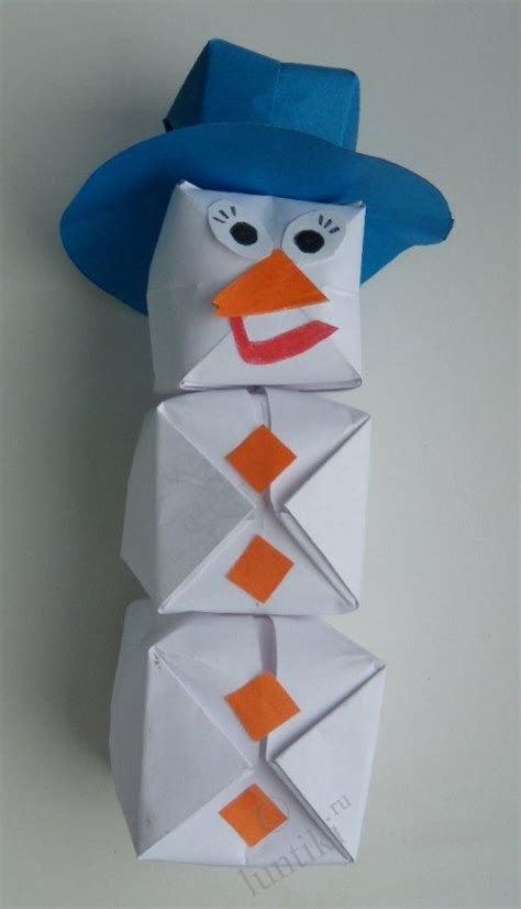 origami arts and crafts origami craft for children snowman