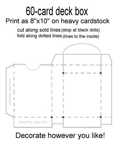 how to make a box from a card deck box card deck and box templates on