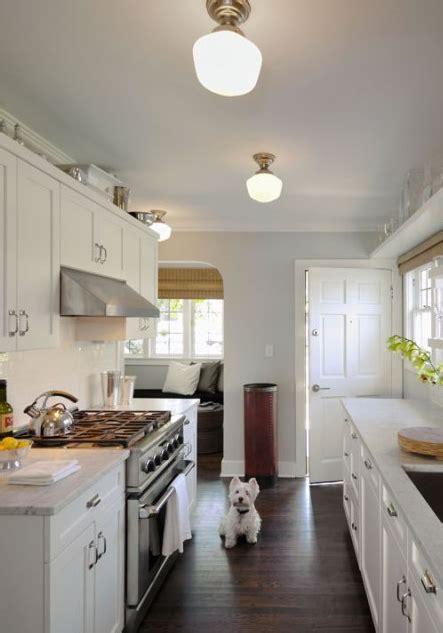 white galley kitchen designs white blue gray galley kitchen design with soft blue