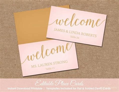 how to make place cards for wedding blush pink and gold wedding place cards printable place
