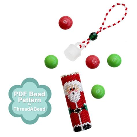 bead store santa bead pattern santa ornament pattern