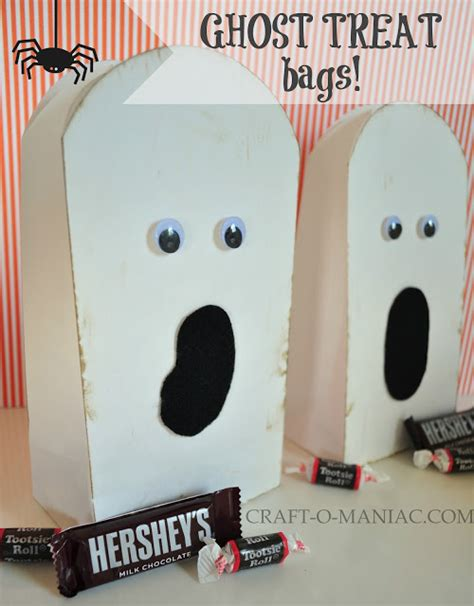 paper bag ghost craft 10 minute paper ghost treat bags