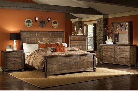 paint colors for rustic bedroom warm rustic finish traditional bedroom w panel bed options