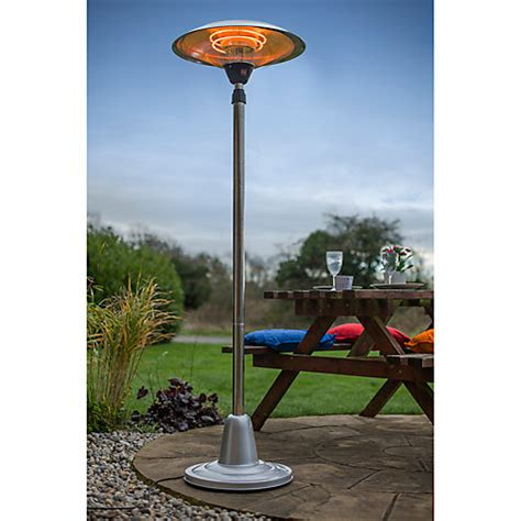free standing patio heater buy la hacienda free standing electric patio heater
