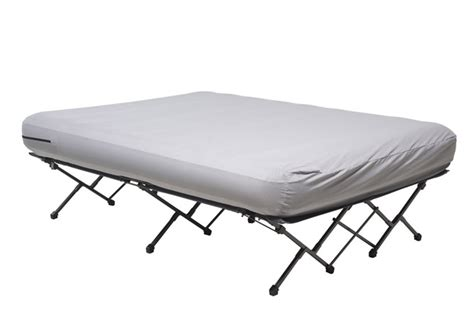 air mattress beds with frame cabela folding air bed frame with wheeled storage