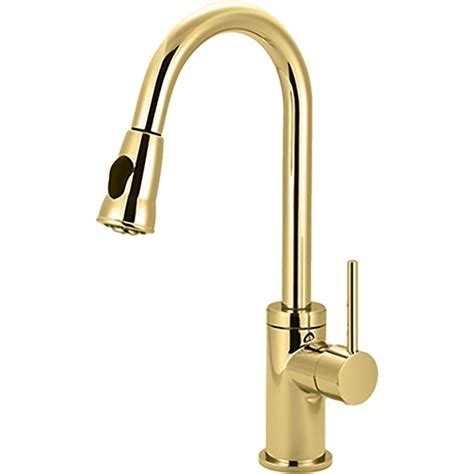 polished brass kitchen faucets pioneer 2mt250 pb single handle pull kitchen faucet in polished brass