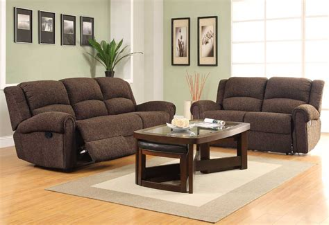 reclining sofa set homelegance esther reclining sofa set brown